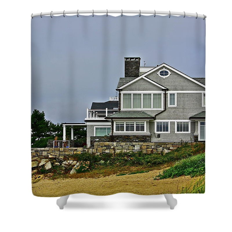 House Shower Curtain featuring the photograph Home By The Shore by Diana Hatcher