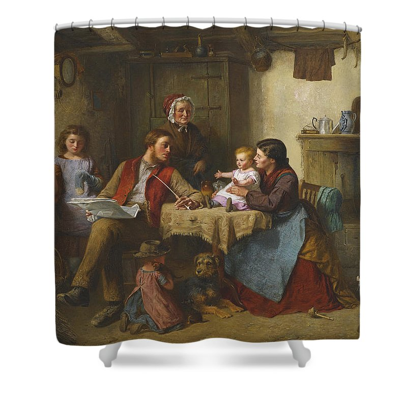 Haynes King Shower Curtain featuring the painting Home by Haynes King