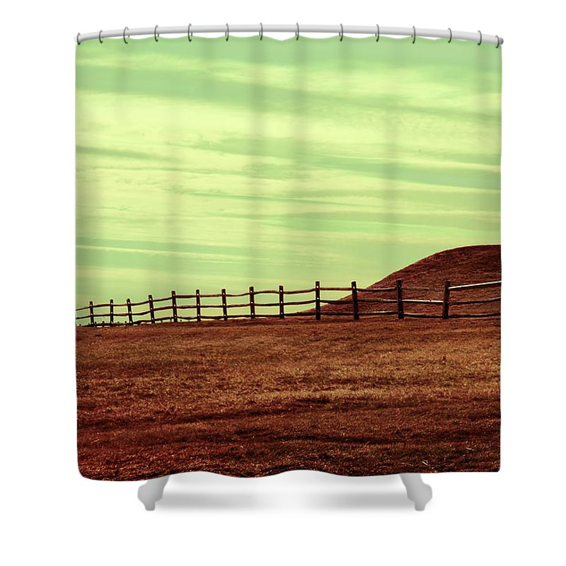 Fence Shower Curtain featuring the photograph Home Is Never Far by Dana DiPasquale