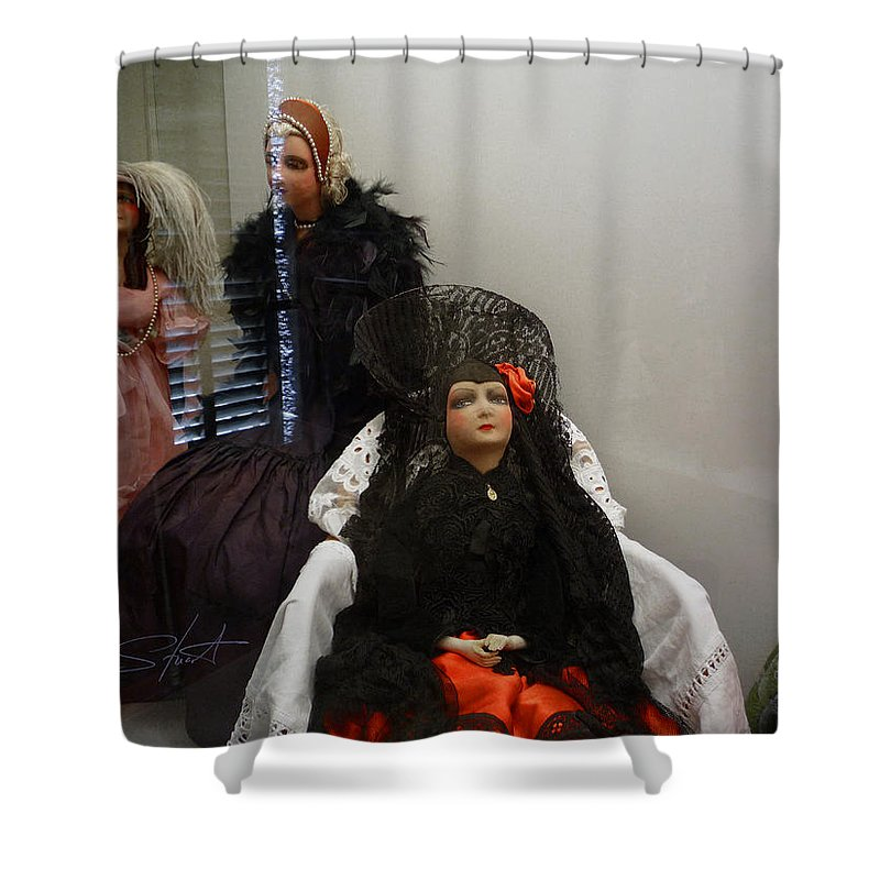 Dolls Shower Curtain featuring the photograph Home Is Where The Heart Is by Charles Stuart