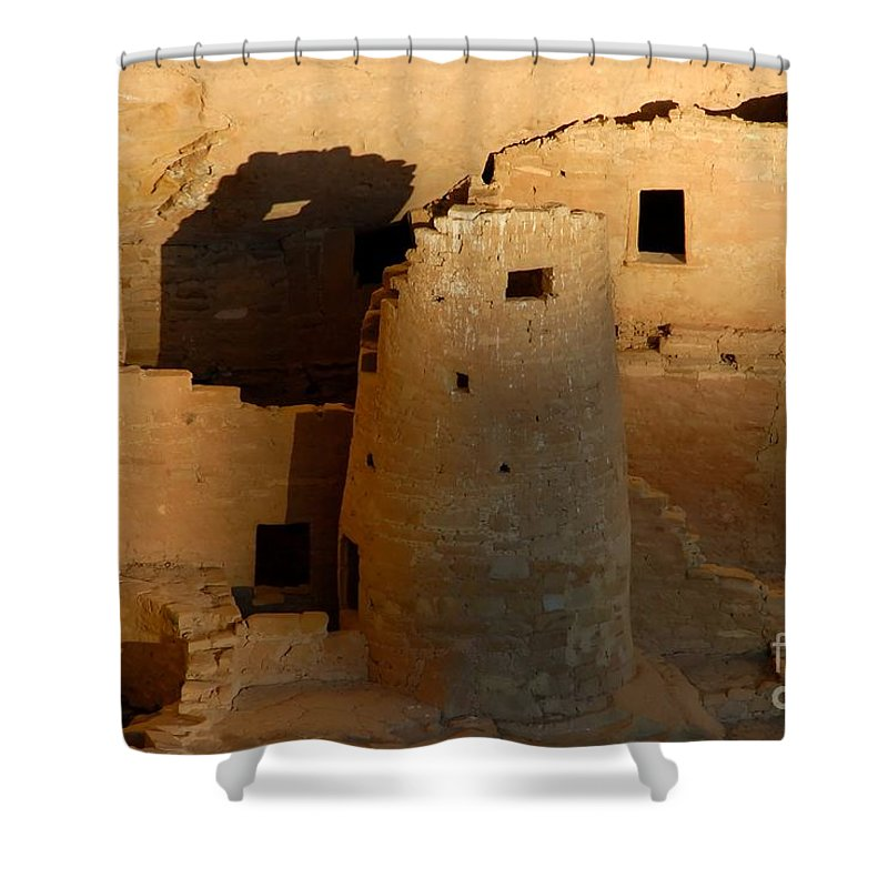 Anasazi Shower Curtain featuring the photograph Home Of The Anasazi by David Lee Thompson