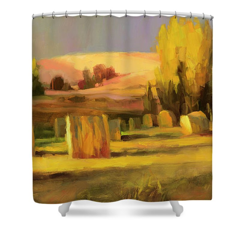 Country Shower Curtain featuring the painting Homeland 3 by Steve Henderson