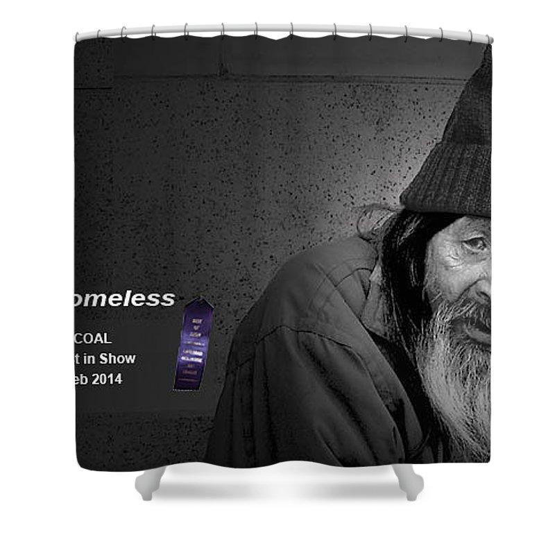 Portrait Shower Curtain featuring the digital art Homeless by Robert Ochs