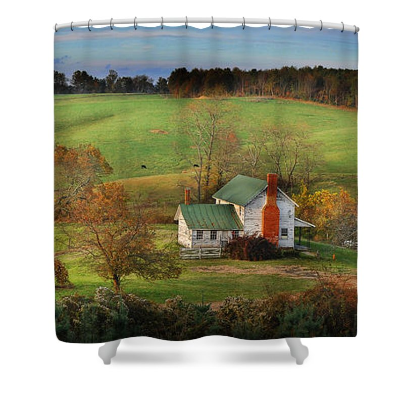 Landscape Shower Curtain featuring the photograph Homeplace by Kevin Hurley