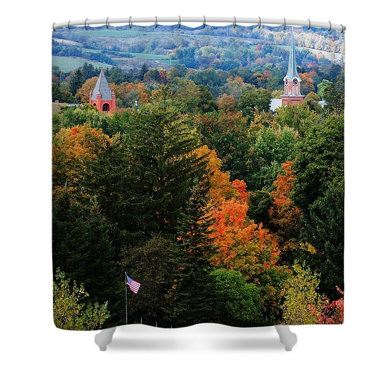 Landscape Shower Curtain featuring the photograph Homer Ny by David Lane