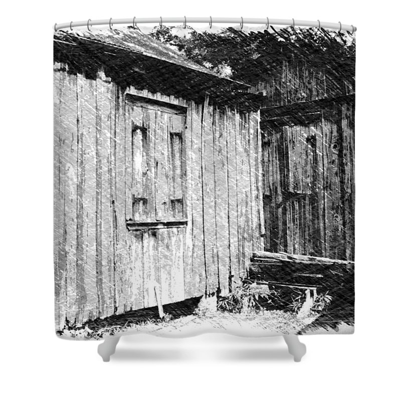 Louisiana Shower Curtain featuring the photograph Homestead 3 by Dick Goodman