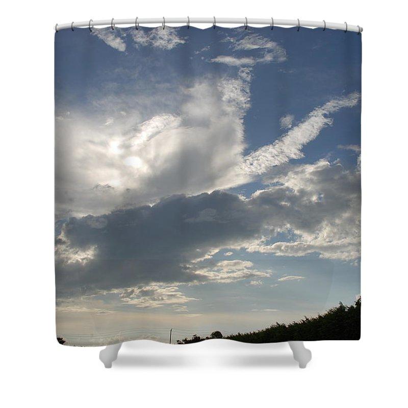 Sky Shower Curtain featuring the photograph Homestead Sky by Rob Hans
