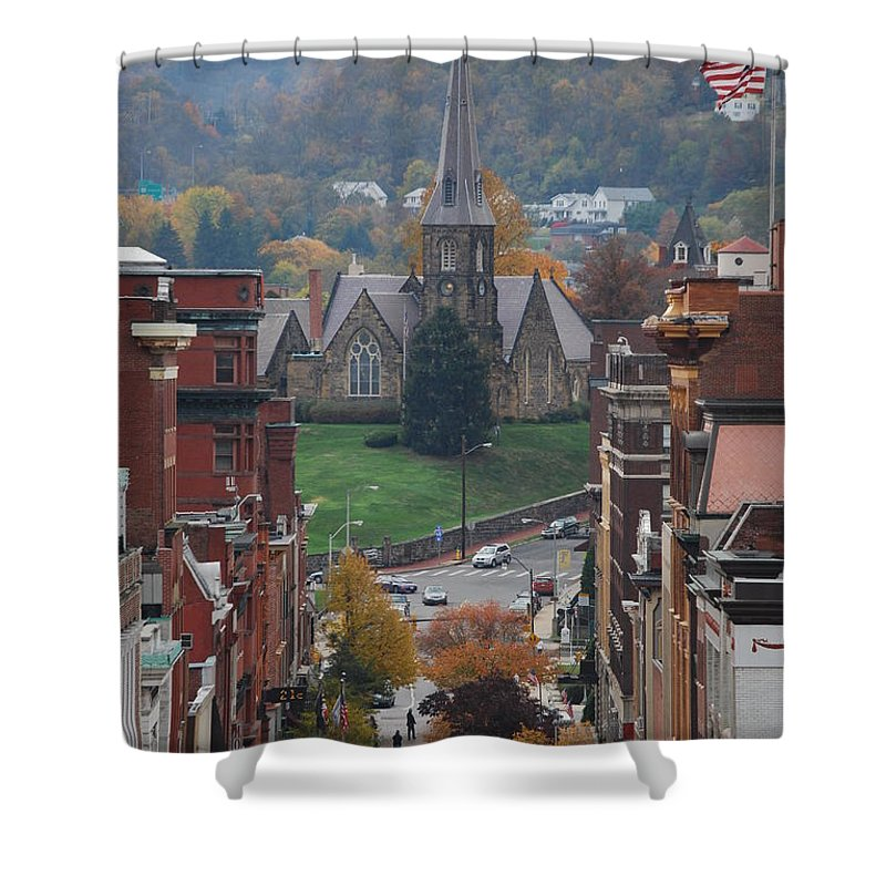 Cumberland Shower Curtain featuring the photograph My Hometown Cumberland, Maryland by Eric Liller