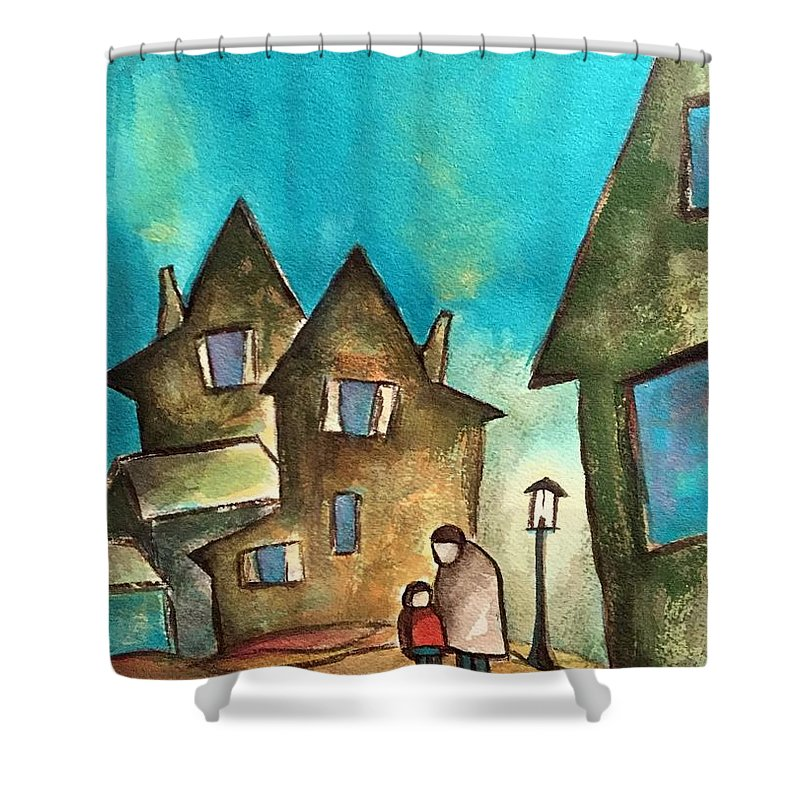 Shower Curtain featuring the painting Homeward Bound by Michael Rome