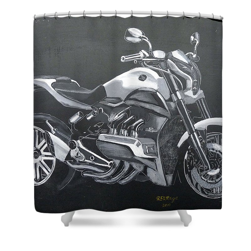 Honda Shower Curtain featuring the painting Honda Concept Evo 6 by Richard Le Page
