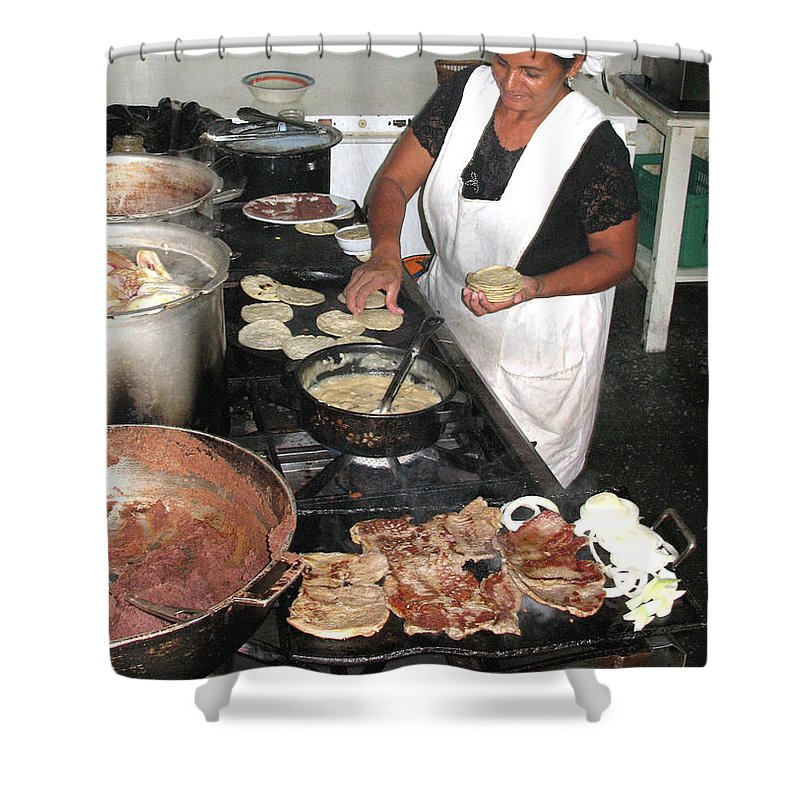 Restaurant Shower Curtain featuring the photograph Honduras Cooking by Beauty For God