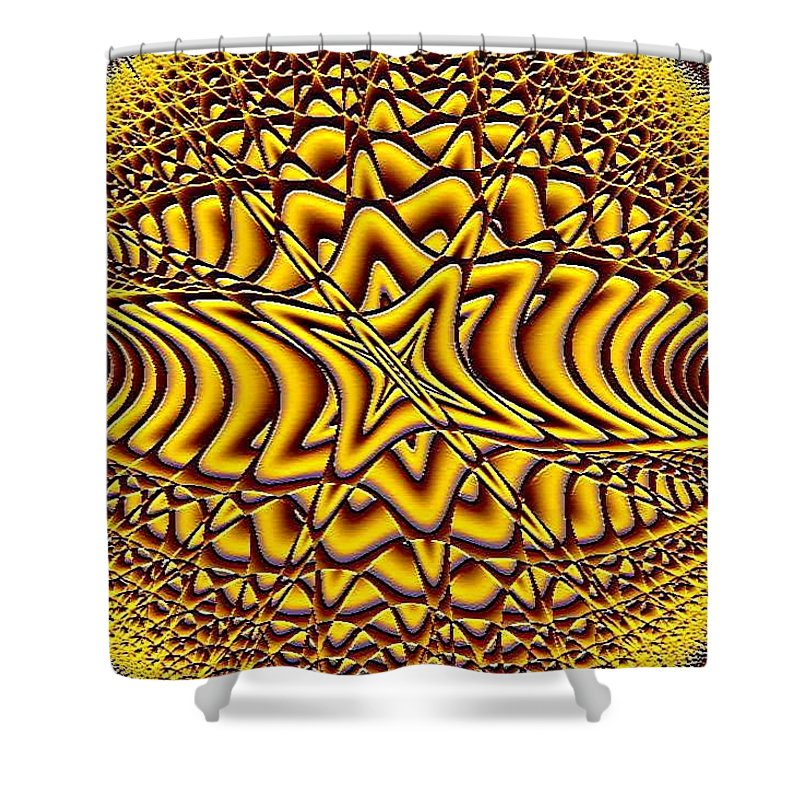 Fractals Shower Curtain featuring the digital art Honeycomb by Dragica Micki Fortuna