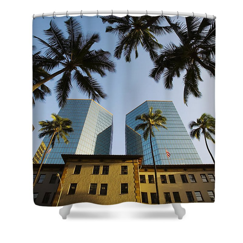 Afternoon Shower Curtain featuring the photograph Honolulu by Dana Edmunds - Printscapes