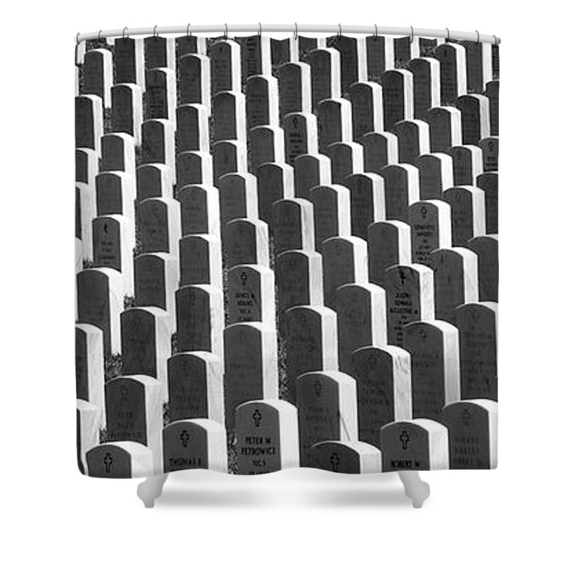 Graves Shower Curtain featuring the photograph Honor of Heroes by Richard Rizzo