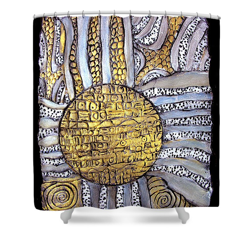 Metal Shower Curtain featuring the painting Honor To The Sun by Wayne Potrafka