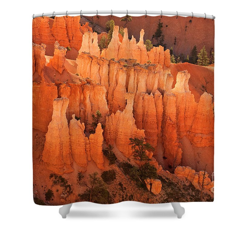 Hoodoos Shower Curtain featuring the photograph Hoodoos At Sunrise Bryce Canyon National Park Utah by Dave Welling