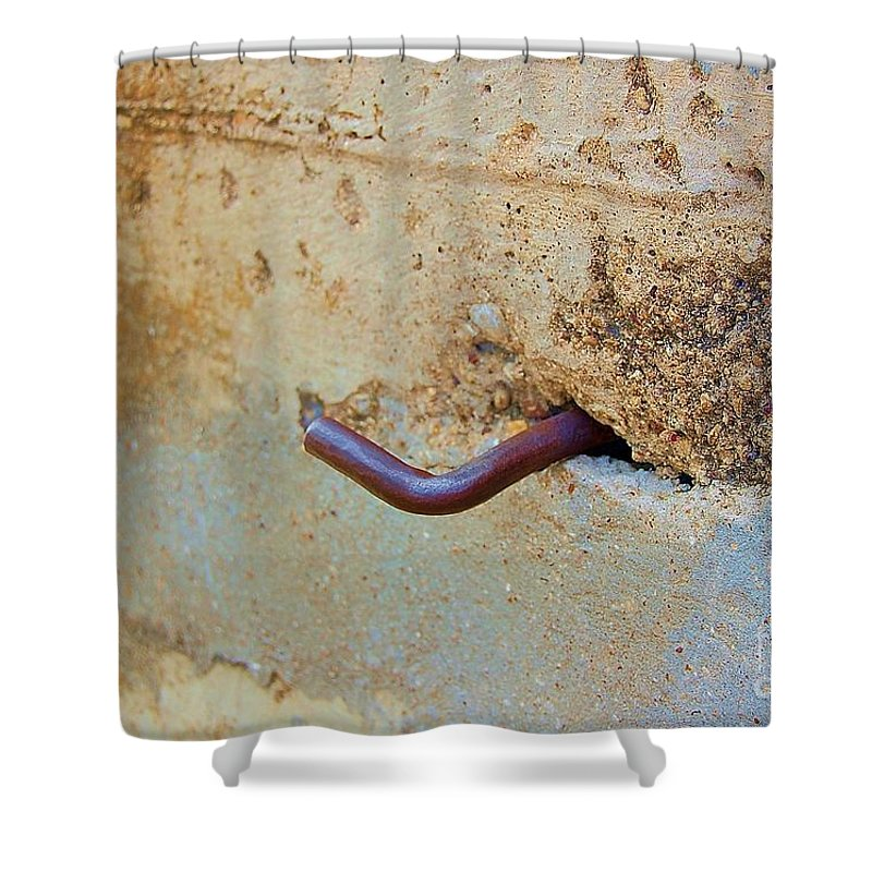 Metal Shower Curtain featuring the photograph Hook by Debbi Granruth