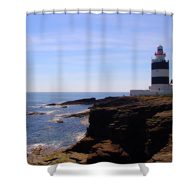 Lighthouse Shower Curtain featuring the photograph Hook Head by Alessandro Della Pietra