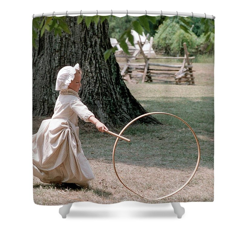 Hoop Shower Curtain featuring the photograph Hoop by Flavia Westerwelle