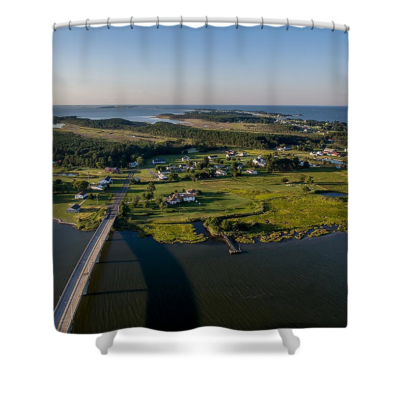 Hoopers Shower Curtain featuring the photograph Hoopers Island By Air by Mid Atlantic Aerial