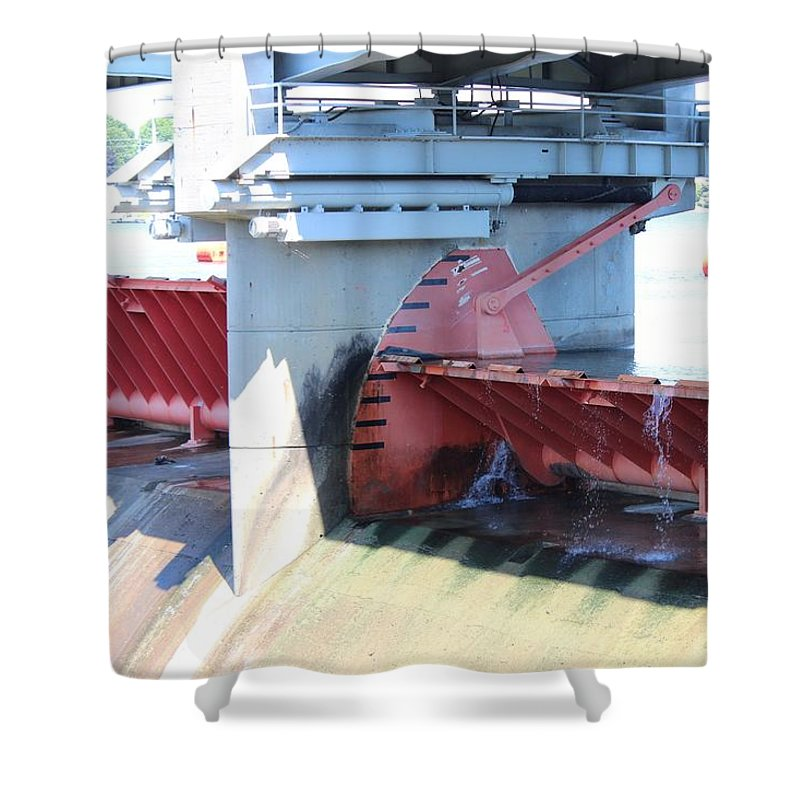 Dam Shower Curtain featuring the photograph Hoover Dam Westerville Ohio 12 by Michael Klink