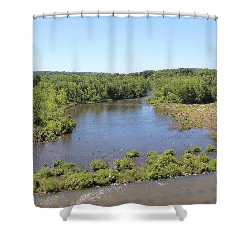 Dam Shower Curtain featuring the photograph Hoover Dam Westerville Ohio 16 by Michael Klink