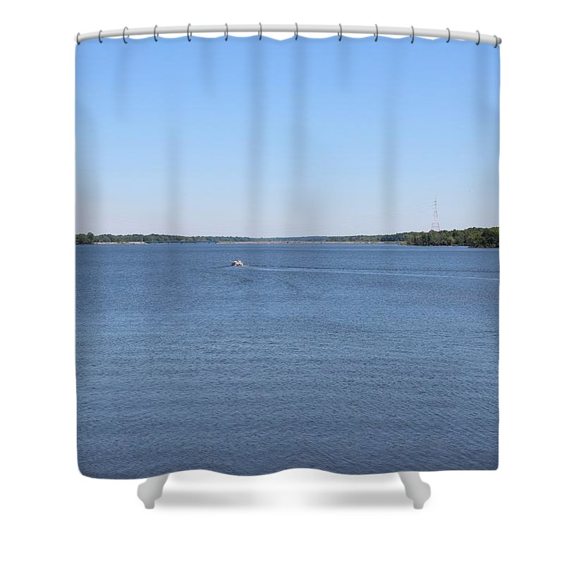 Dam Shower Curtain featuring the photograph Hoover Dam Westerville Ohio 17 by Michael Klink