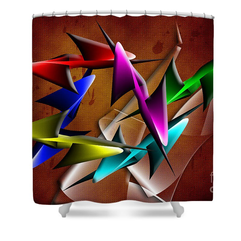 Digital Shower Curtain featuring the digital art Hope 3 by Tim Hightower