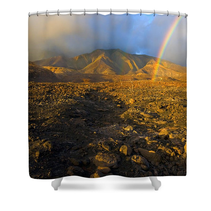 Rainbow Shower Curtain featuring the photograph Hope From Desolation by Mike Dawson