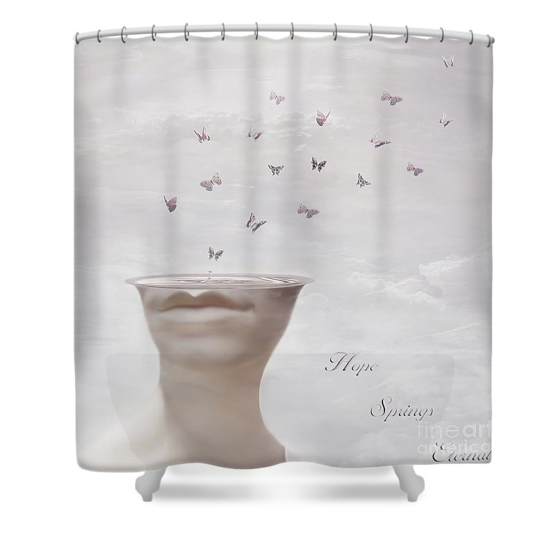 Surreal Shower Curtain featuring the digital art Hope Springs Eternal by Jacky Gerritsen