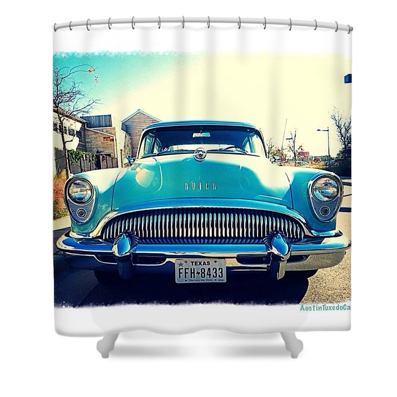 Old Shower Curtain featuring the photograph Hope Your #friday Is As #stylish As by Austin Tuxedo Cat