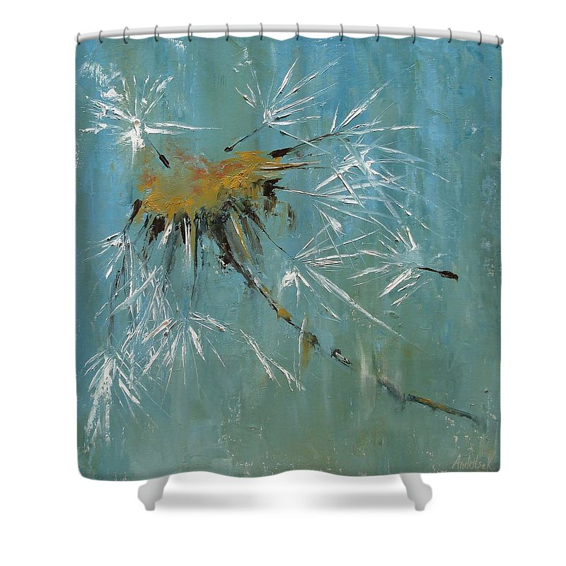 Plants Shower Curtain featuring the painting Hopes by Barbara Andolsek