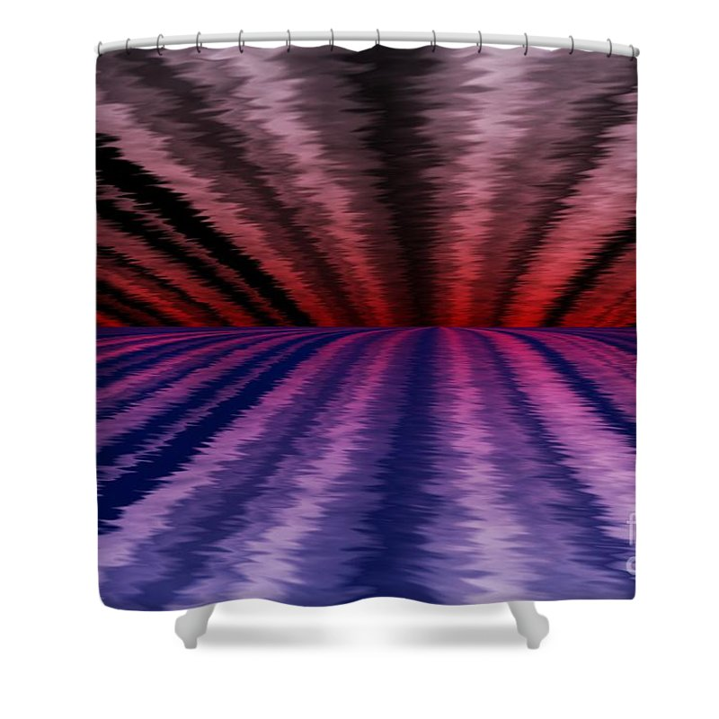 Abstract Shower Curtain featuring the digital art Horizon by David Lane