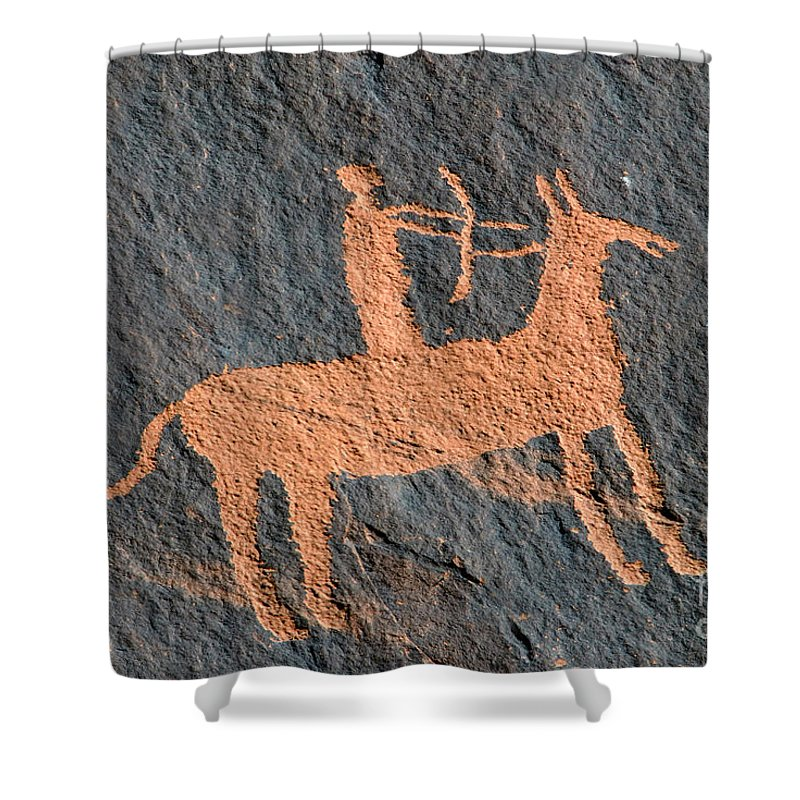 Bow And Arrow Shower Curtain featuring the photograph Horse And Arrow by David Lee Thompson