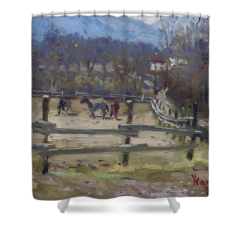 Horse Farm Shower Curtains