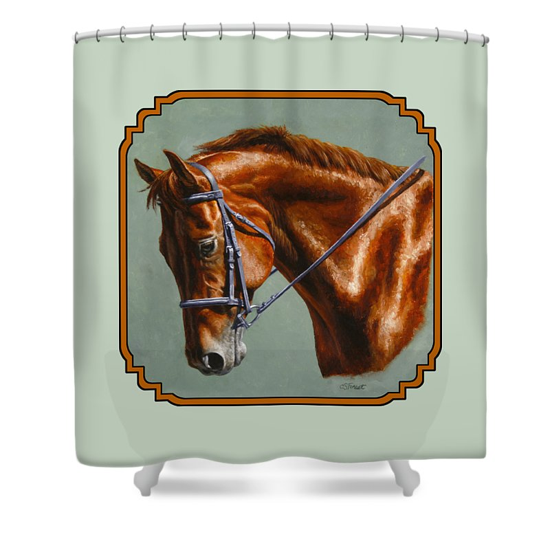 Horse Shower Curtain featuring the painting Horse Painting - Focus by Crista Forest