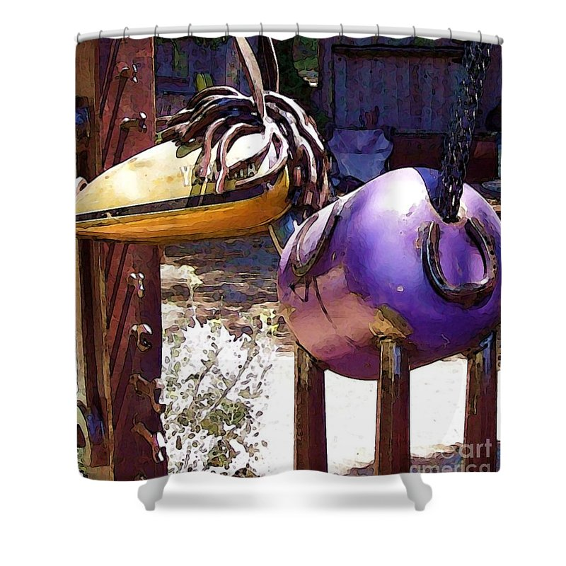 Sculpture Shower Curtain featuring the photograph Horse With No Name by Debbi Granruth