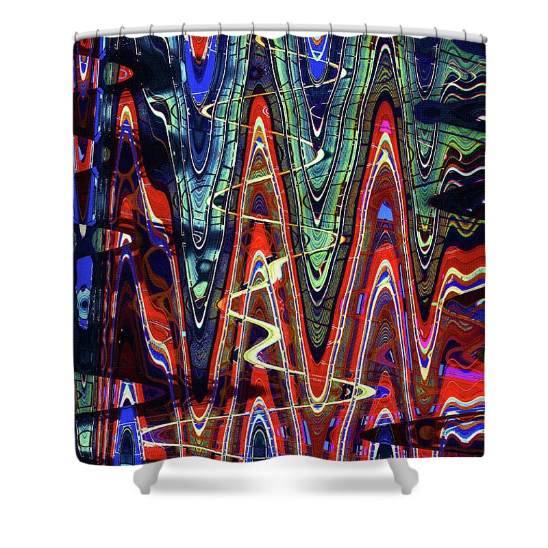 Hospital Construction Abstract #4 Shower Curtain featuring the digital art Hospital Construction Abstract #4 by Tom Janca