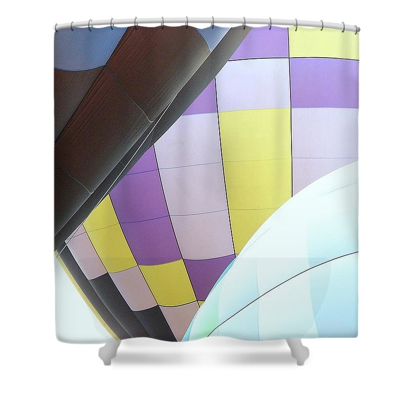 Balloons Shower Curtain featuring the photograph Hot Air Rising by J R Seymour