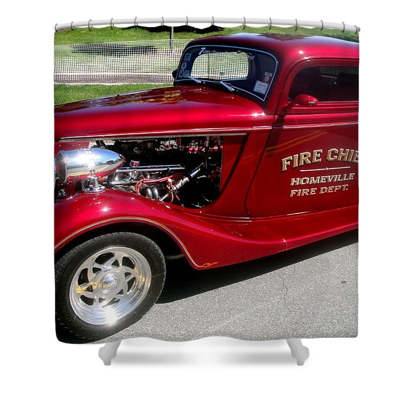 Hot Rod Shower Curtain featuring the photograph Hot Rod Chief by Kevin Fortier