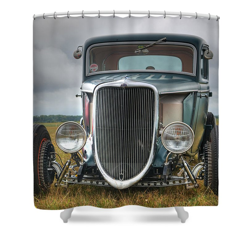 Hot Shower Curtain featuring the photograph Hot Rod by Chris Day