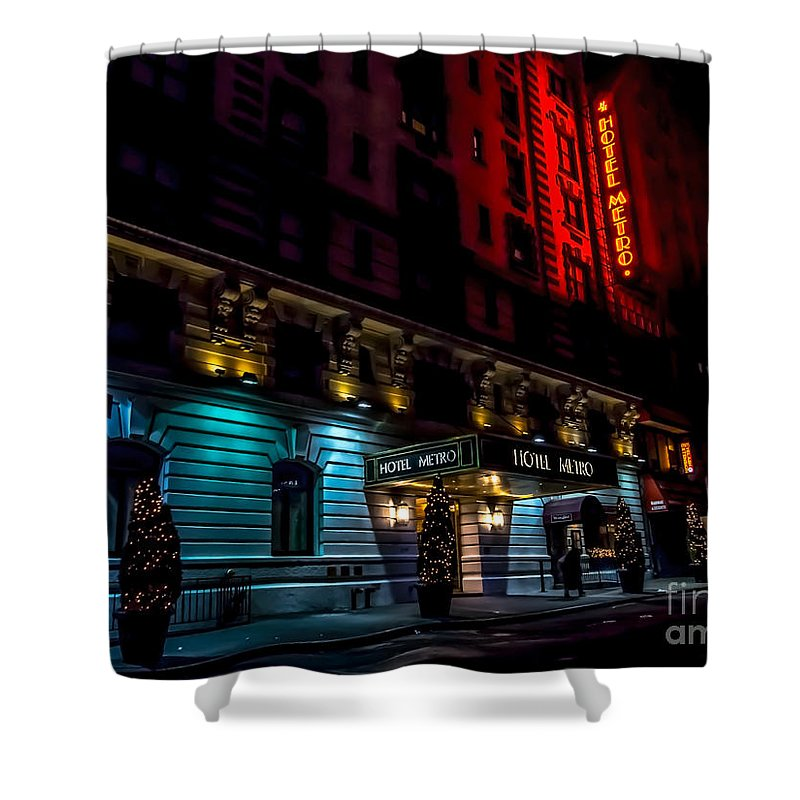 Hotel Shower Curtain featuring the photograph Hotel Metro, Nyc by James Aiken