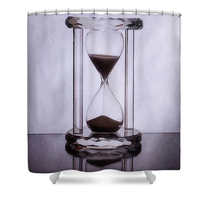 Acrylic Shower Curtain featuring the photograph Hourglass - Time Slips Away by Tom Mc Nemar