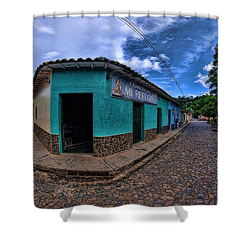 House Shower Curtain featuring the photograph House Of Altagracia De Orituco by Galeria Trompiz