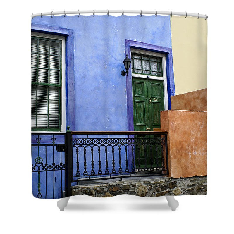 Africa Shower Curtain featuring the photograph House Of Color 1 by Michele Burgess