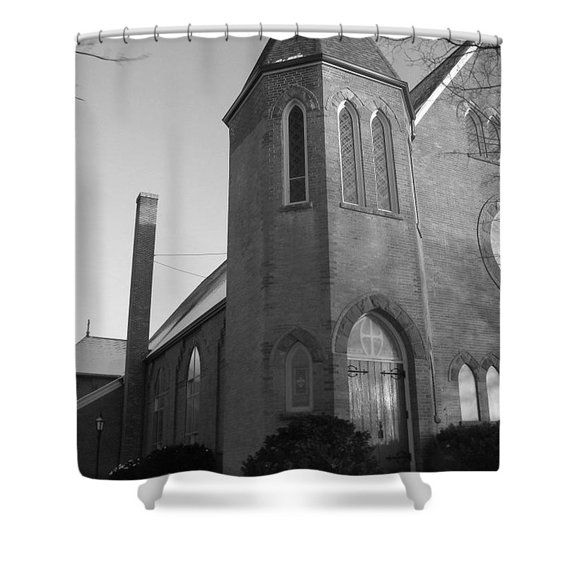House Shower Curtain featuring the photograph House Of God by Rhonda Barrett