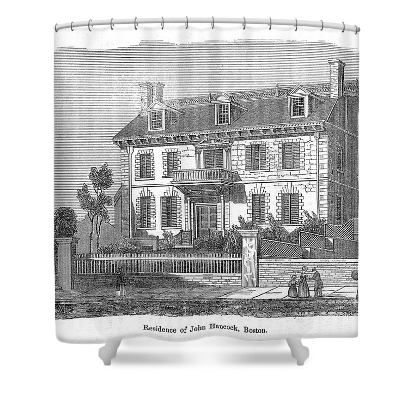 18th Century Shower Curtain featuring the photograph House Of John Hancock by Granger