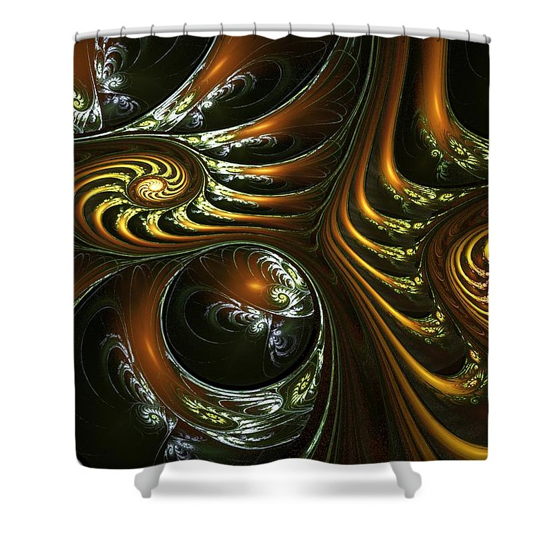 Digital Painting Shower Curtain featuring the digital art House Of Mirrors by David Lane