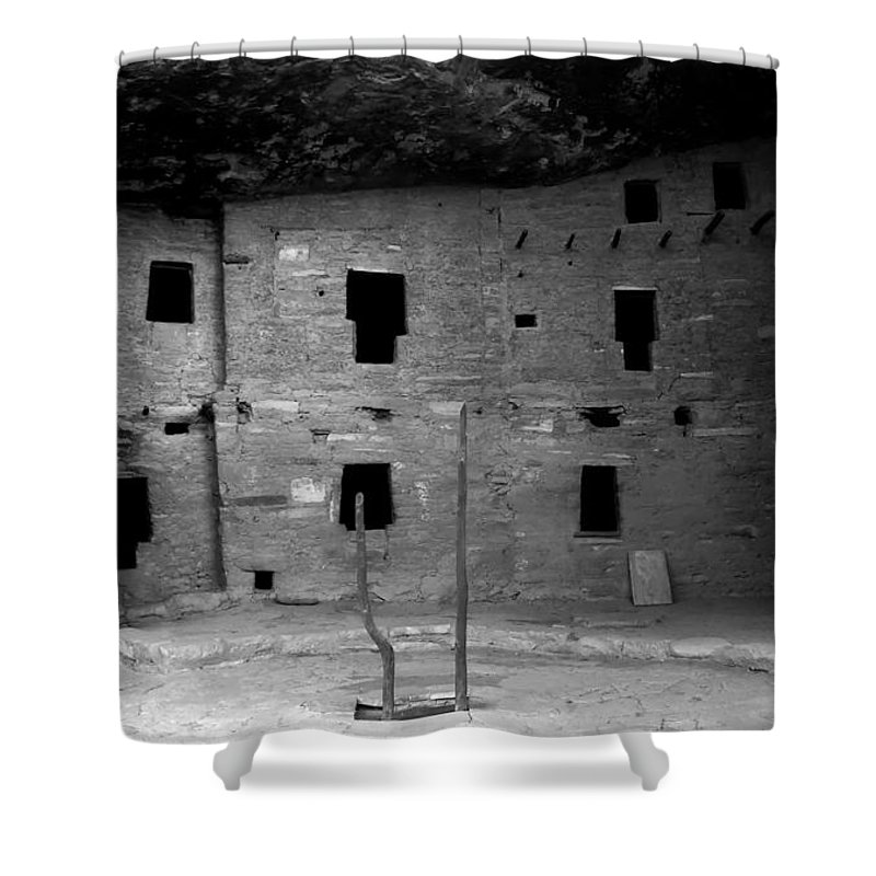 Anasazi Shower Curtain featuring the photograph House Of Windows by David Lee Thompson