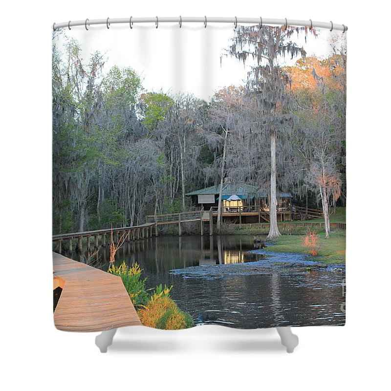 House Shower Curtain featuring the photograph House On The Inlet by Rod Andress
